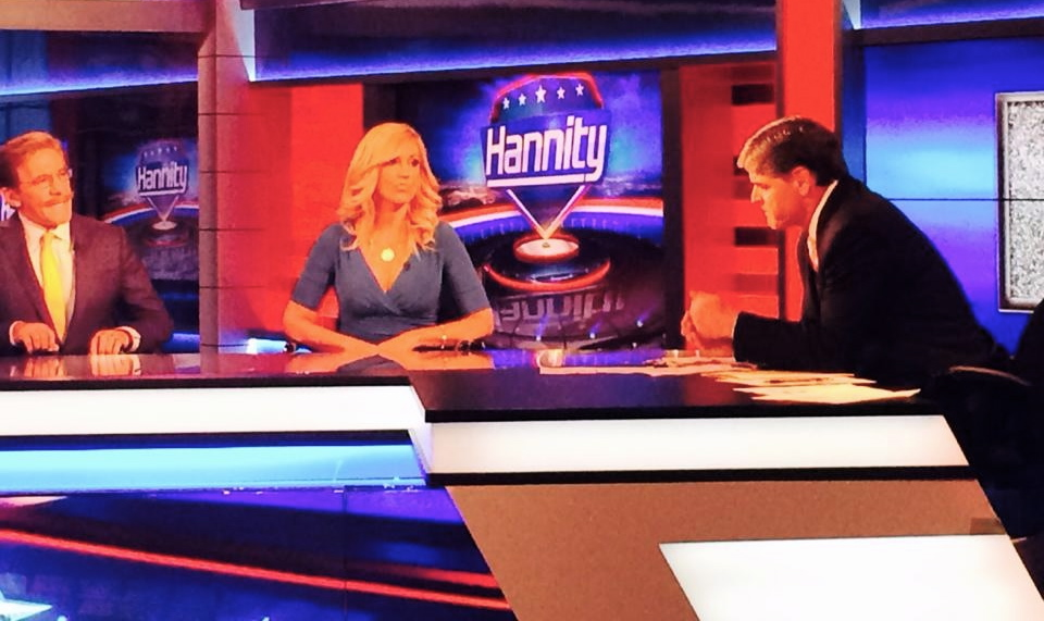 Ann-Marie with Geraldo Rivera on Sean Hannity