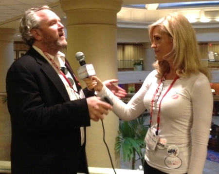 Ann-Marie interviewing Andrew Breitbart, a few weeks before he died.