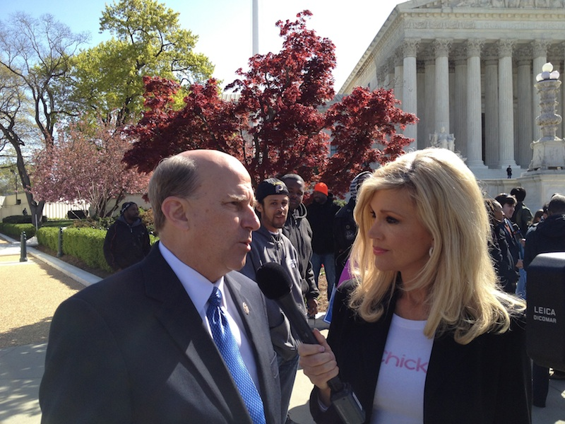 Ann-Marie with Rep. Louie Gohmert, steps of the Supreme Court in D.C.
