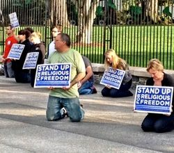Photo of 22 Christians Arrested for Praying in Front of WH