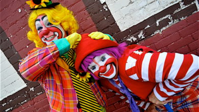 Photo of Clowns to the Left of Me…