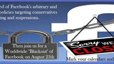 """Photo of Fed Up Conservatives Call for """"Facebook Blackout"""""""