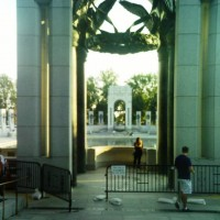 bicycle gate at WWII memorial