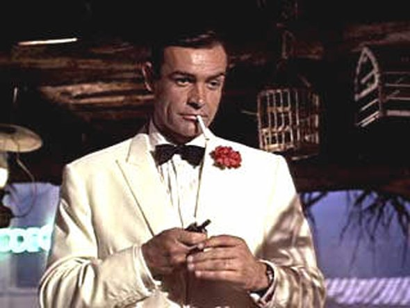 james-bond-always-wore-a-tuxedo-in-the-movies-sean-connerys-white-tuxedo-in-1964s-goldfinger-is-particularly-iconic