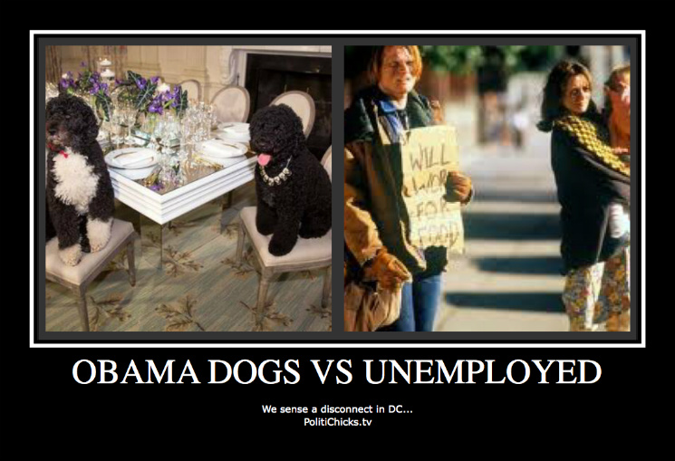Obama's Dogs vs Poor People