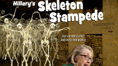 Photo of Hillary Clinton:  Enough Bones in Her Closet to Fill a Few Walk-ins