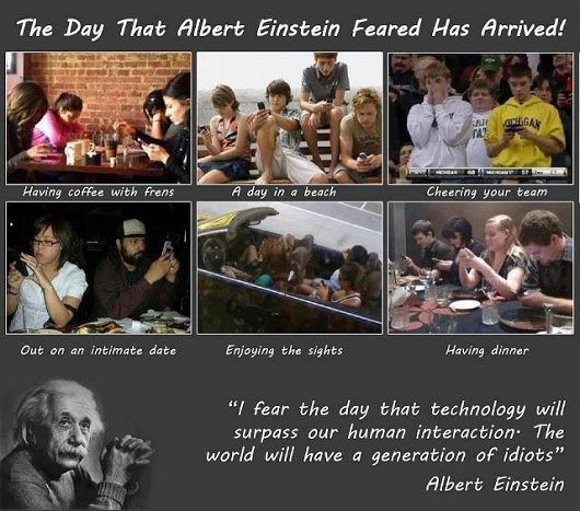 Albert Einstein on technology