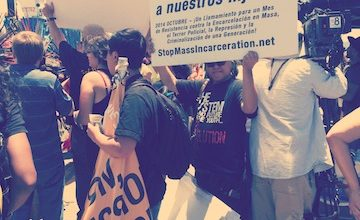 Photo of Protesters Prepping for 1-Year Anniversary of Murrieta Immigration Protests