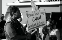 Photos From Both Sides of Illegal Immigration Protest in Murrieta, CA