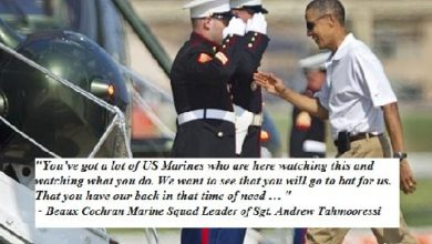 Photo of A Jewish Teen, Muslim Teen and a Marine:  Obama's Justice