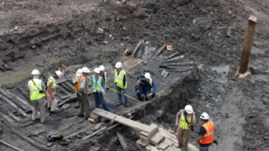 Photo of Hull of an Ancient Ship Found During Ground Zero Excavation