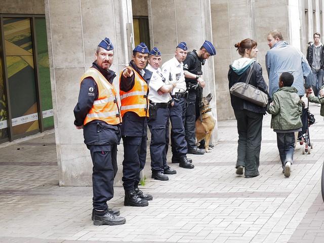 Belgian Police on Street