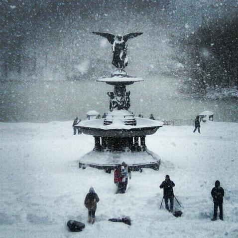 Central Park frozen