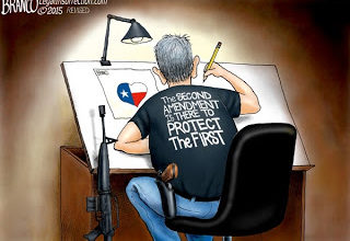 Photo of Daniel Greenfield:  It Takes a Good Guy with a Gun to Defend Freedom of Speech