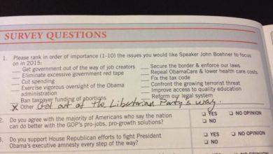 """Photo of Libertarian Nat'l Chair to GOP: """"Get out of the Libertarian Party's way"""""""
