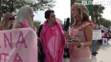 Photo of PolitiChicks Interviews CODE PINK at RNC 2012