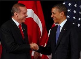 Turkish President Recep Tayyip Erdogan (left) with Barack Obama (right).