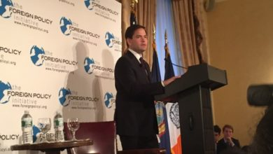 Photo of Rubio Bashes Obama's Foreign Policy in New York City