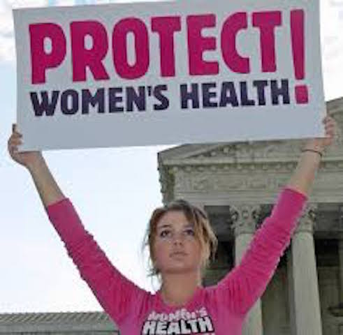 The irony, urging to protect women's health given my premise about what abortion can do to a woman's psyche.
