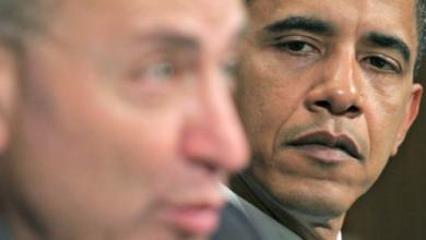Photo of Democrat (Traitors) Calling Chuck Schumer a Traitor Re. Iran Deal.