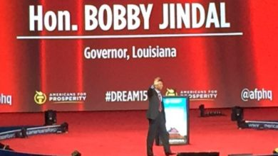 "Photo of Bobby Jindal at AFP:  ""Immigration without Assimilation is Invasion"""