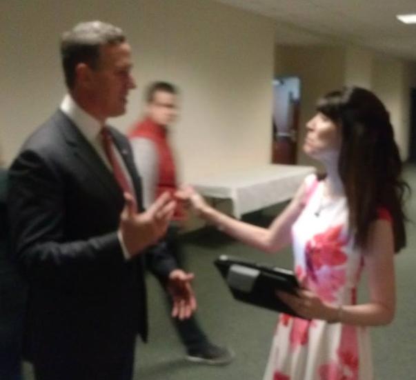 Sen. Santorum and Shannon Sloane (Photo: Shannon Sloane)