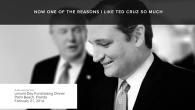 Photo of New Ad Features Trump Heaping Tons o' Praise on Cruz