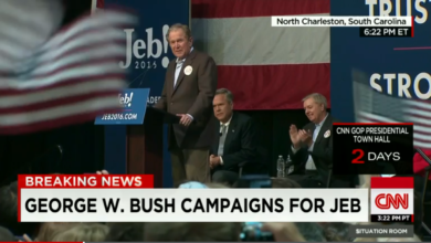 Photo of Big Brother George W. Bush Returns to help Little Brother Jeb!