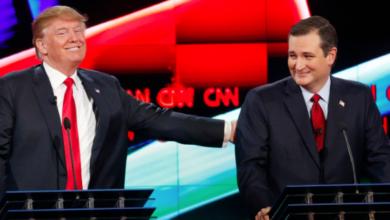 """Photo of """"Cruz Lies!"""" Trump Cries"""