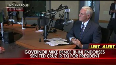 Photo of Indiana Governor Mike Pence Endorses Ted Cruz