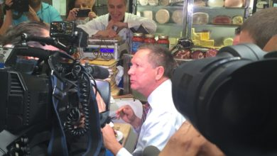 Photo of John Kasich Feasts in The Bronx Before Brooklyn Veterans Town Hall