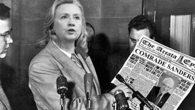 Photo of Clinton's Corruption and Sanders' Communism