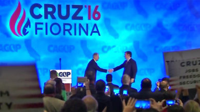 Photo of Former California Gov. Pete Wilson Endorses Ted Cruz at CA GOP Convention