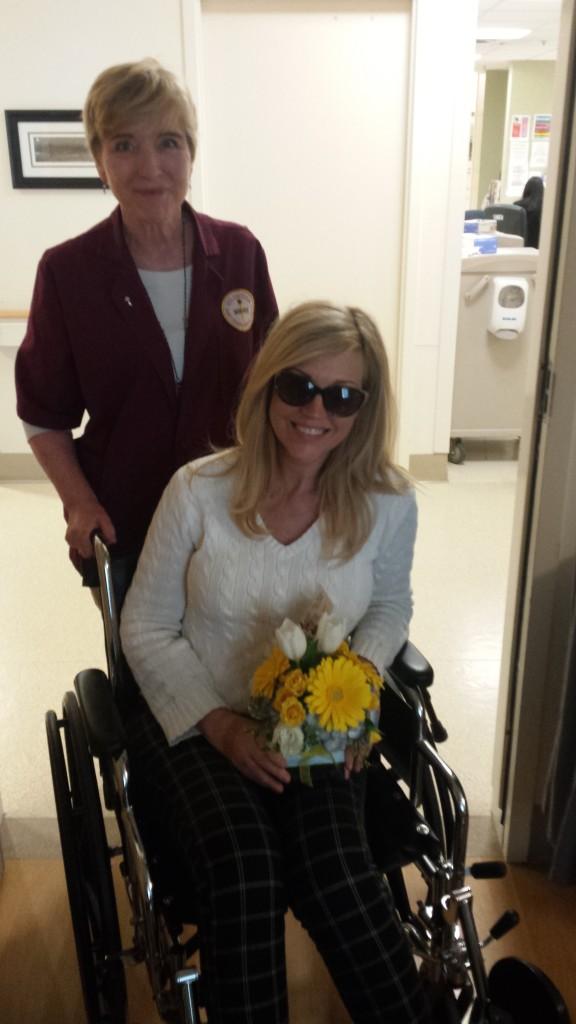 Leaving St. Joseph's Hospital, April 20, 2016.