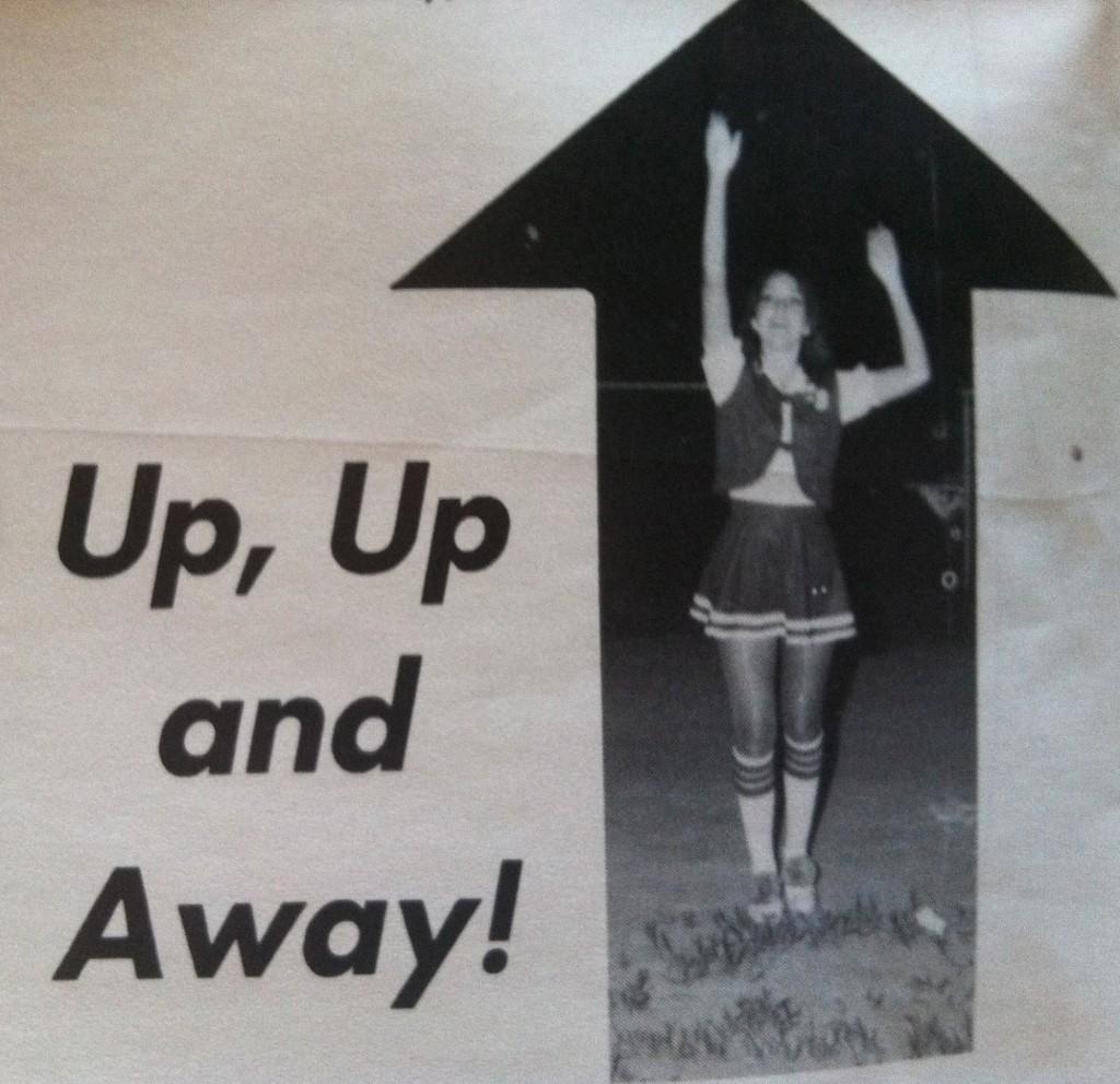 Me, as a Hughes Springs High School cheerleader
