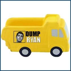 "Photo of Nehlen's  ""Dump Paul Ryan"" dump truck used with permission."