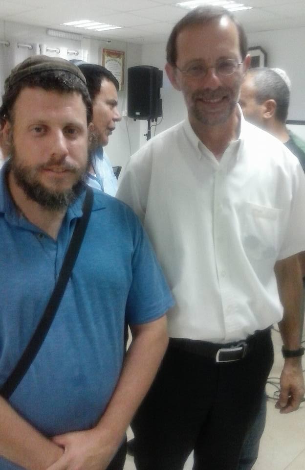 Israeli correspondent David Weissman with Moshe Feiglin