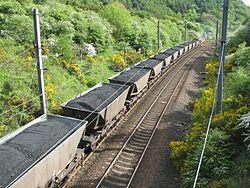 Coal going overseas