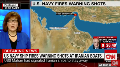 Photo of U.S. Navy Destroyer Fires Warning Shots at Iranian Vessels in Straight of Hormuz