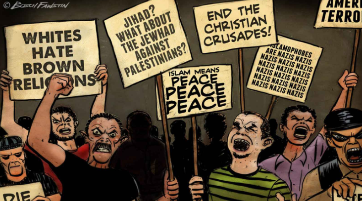 Cartoon by Bosch Fawstin