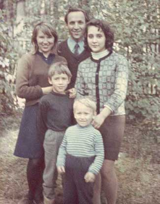 My family, after my father was expelled from the Academy. I'm the youngest, with my older brother and sister behind me. My mom is above my brother to dad's right.