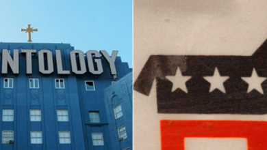 Photo of Question:  Which Group Is It – Scientology, or the Democrat Party?