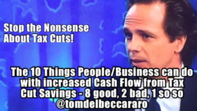 Photo of Tom Del Beccaro: The Good (and Bad) of Tax Rate Reduction
