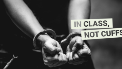 Photo of In Class; Not Cuffs = False Premise that Endangers Learning for All