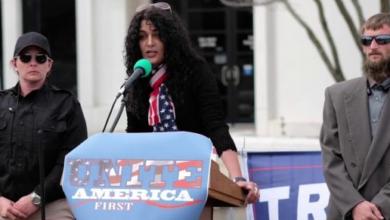 """Photo of Anni Cyrus, Sharia Survivor, Schools Antifa """"Feminists"""""""