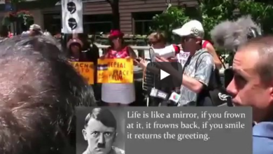 Photo of Antifa Cheers Speech Made Entirely of HITLER QUOTES