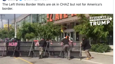 Photo of This Just in From #AntifaStan (aka CHAZ): Border Walls Work