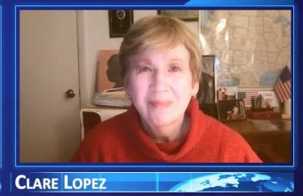 Photo of Clare Lopez: The U.S. Communist Revolution