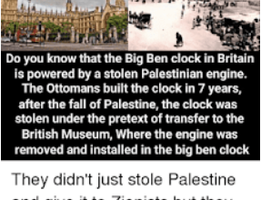 Photo of Greenfield: 'Palestinians' Demand 'Big Ben' Back